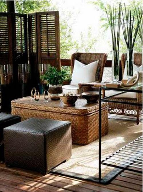 Отделочные материалы в дизайне гостиной в африканском стиле