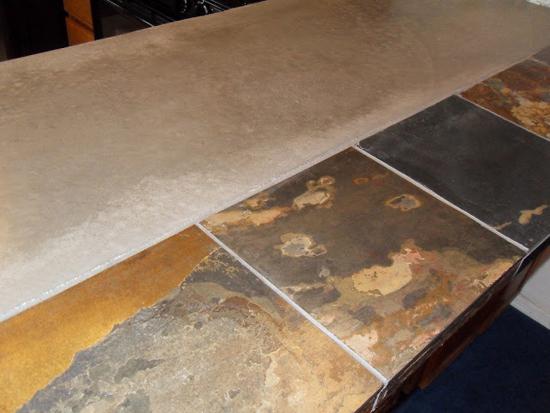 Столешница из керамической плитки - затираем швы