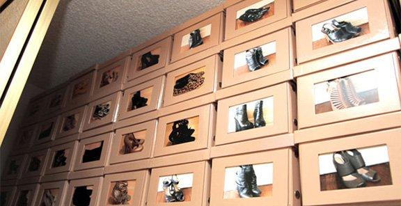 Коробки с фото для хранения обуви