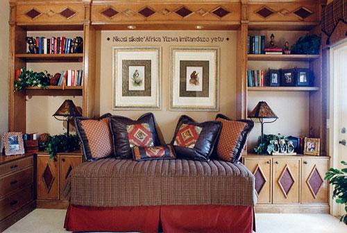 Гостиная в африканском стиле: цветовое решение