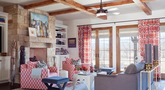Деревянные потолочные балки в интерьере