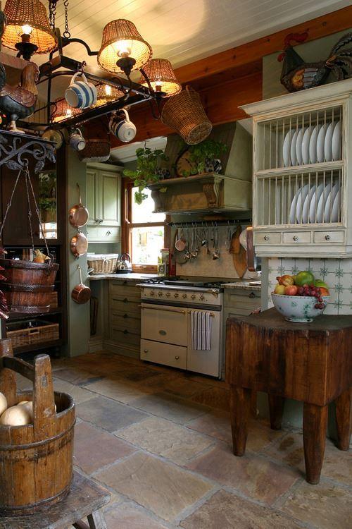 Декор в стиле кантри на кухне