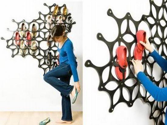 Оригинальный способ хранить обувь