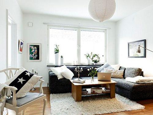 Дизайн квадратной гостиной небольшого размера