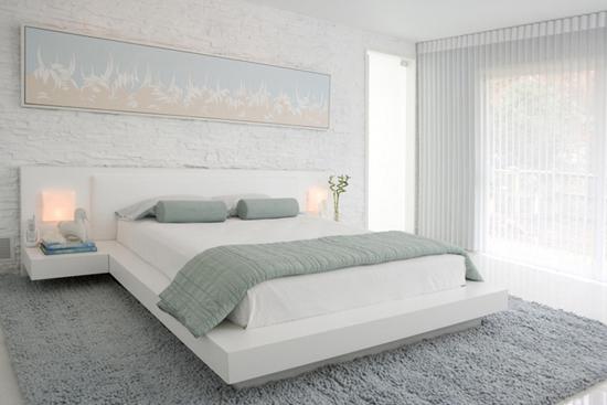 красивая спальня в минималистичном стиле