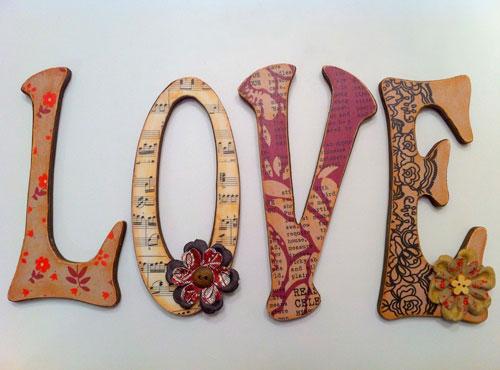 Деревянные буквы своими руками