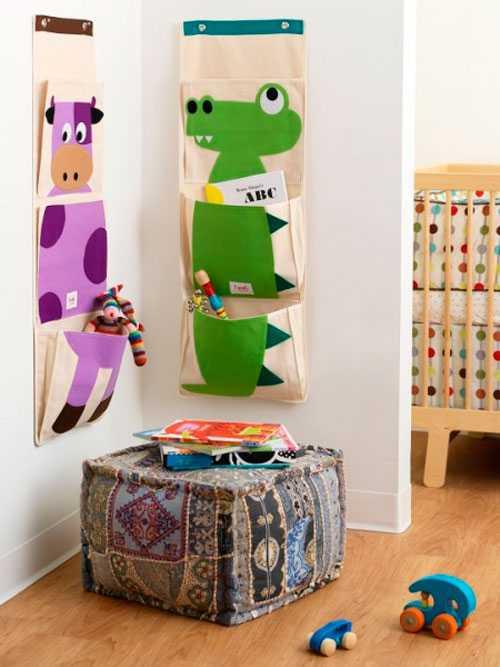 Кармашки для игрушек: оригинальный дизайн