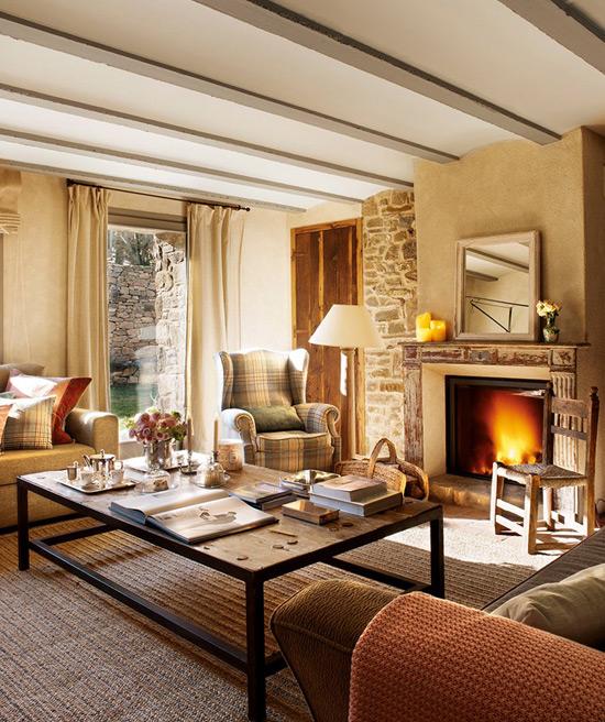 Декоративные потолочные балки в классическом интерьере