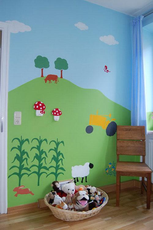 Трафареты для детской комнаты могут быть использованы для создания целостной картинки