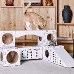 Кошачий лабиринт из картона