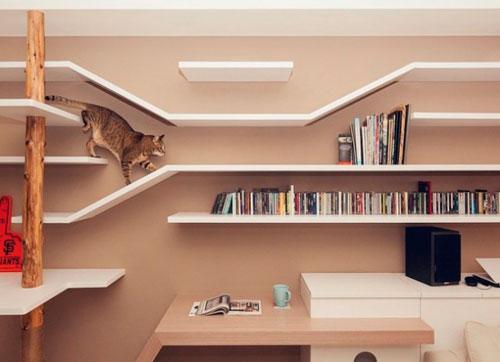 Домик для кошки своими руками из книжных полок