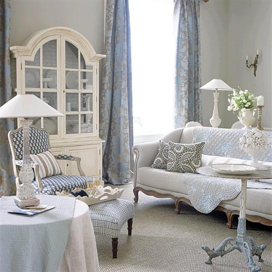 Гостиная в стиле прованс французский