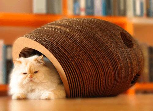 Домик для кошки своими руками из гофрированного картона