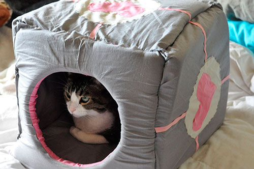 Как сшить домик для кошки