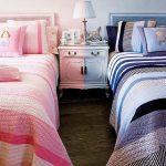Фото 119: Цветовое деленив комнате для разнополых детей
