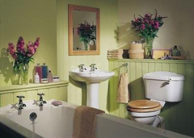 Букеты цветов в ванной