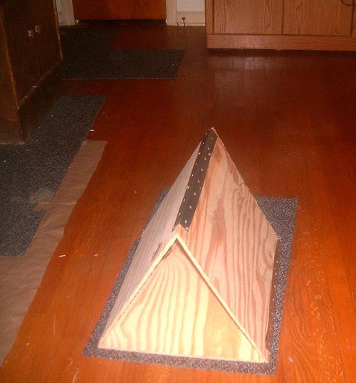 Домик для кошки: мастер-класс, шаг 1