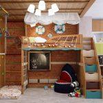 Фото 95: Игровая и спортивная зоны в детской комнате