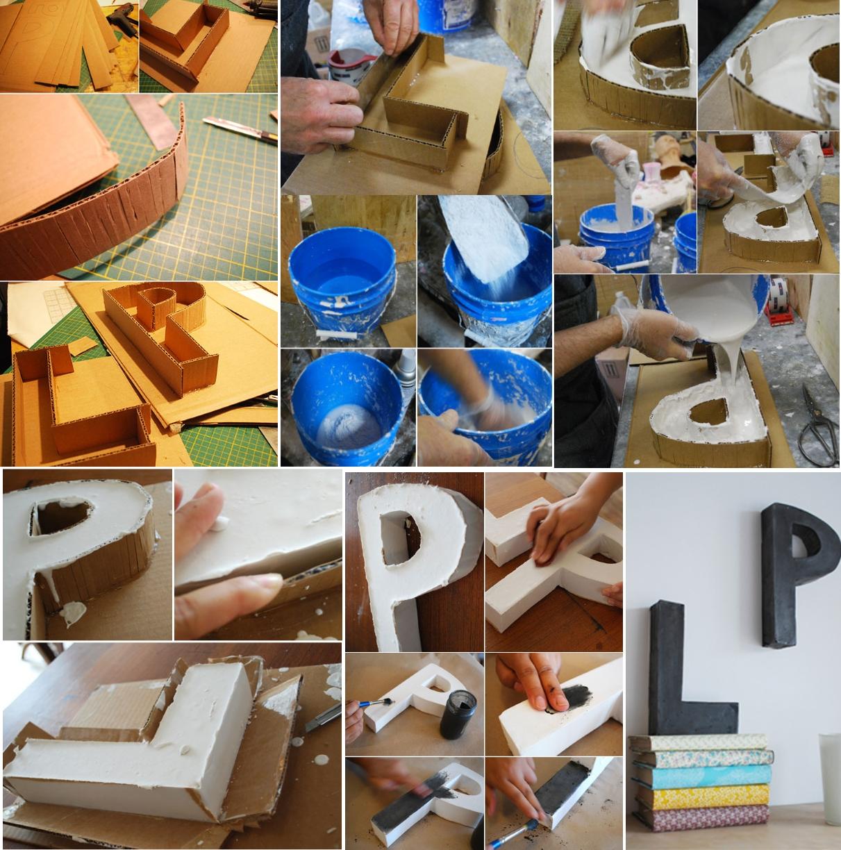 Изготовление букв из гипса