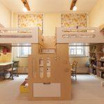 Фото 64: Зонирование детской комнаты для двух детей мебелью