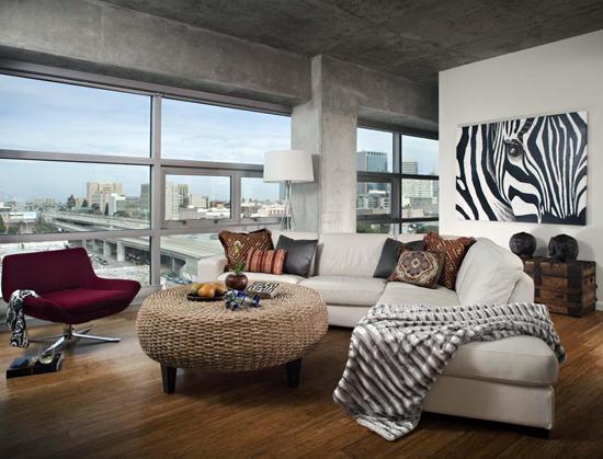 Экостиль в дизайне гостиной комнаты