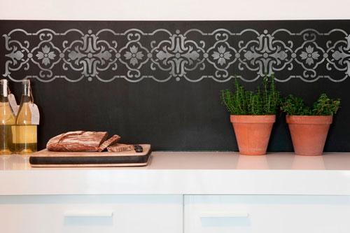 Трафареты для декора стен кухни