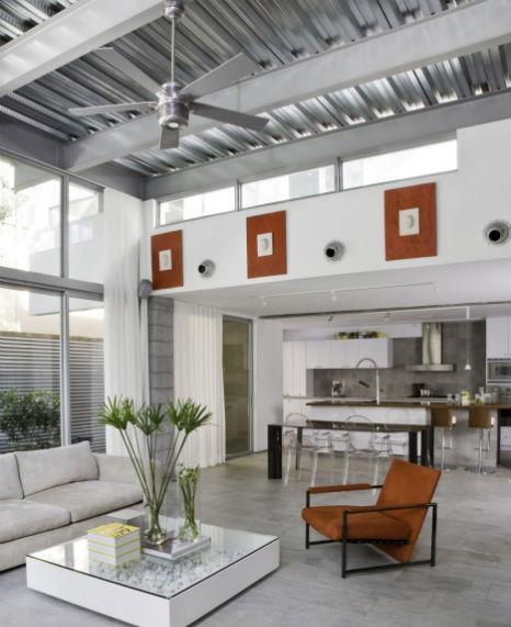 Дизайн гостиной в стиле хай-тек фото