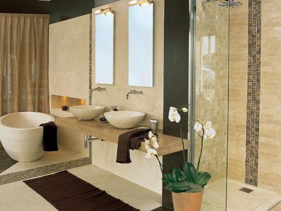 Аксессуары в ванной комнате в стиле минимализм