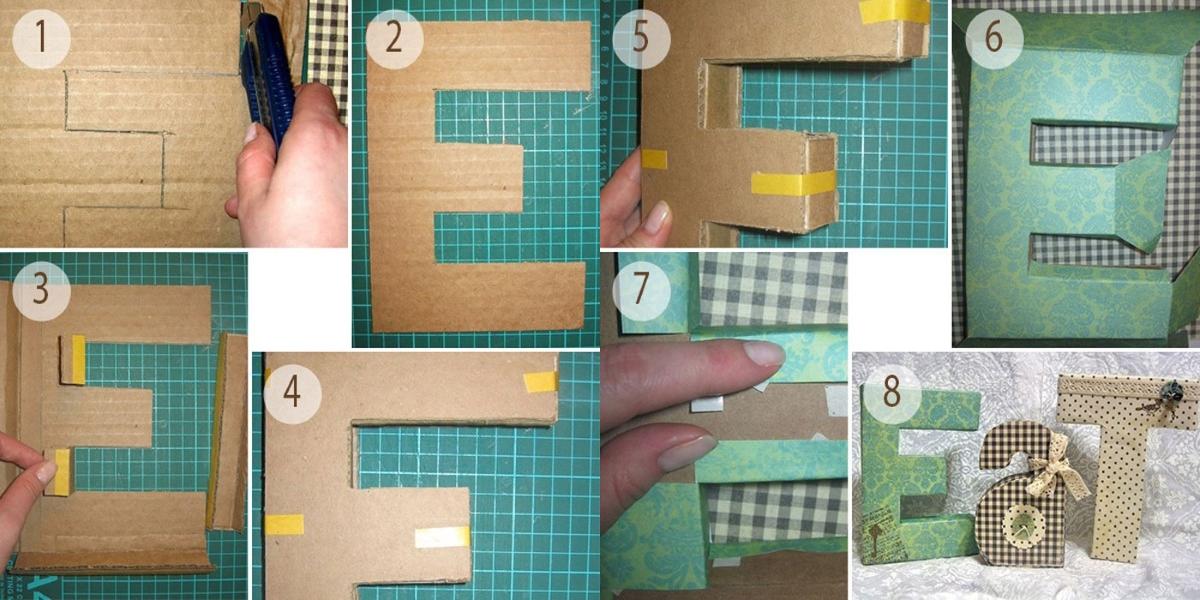 Изготовление объемной буквы из картона