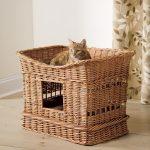 Плетеный домик для кошек