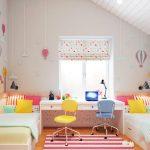 Фото 23: Зонирование детской комнаты рабочим столом