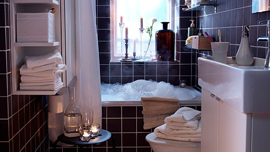 Размещение аксессуаров  в ванной комнате
