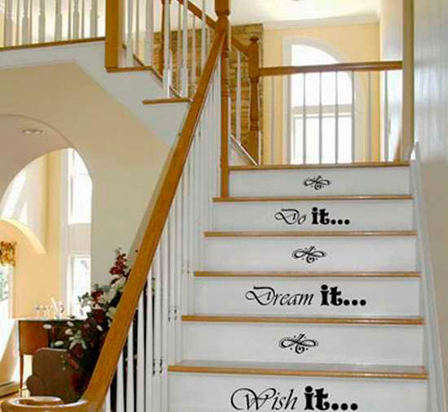 Трафареты для декора лестницы в коридоре
