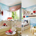 Фото 150: Детская комната в пляжном стиле для двух детй