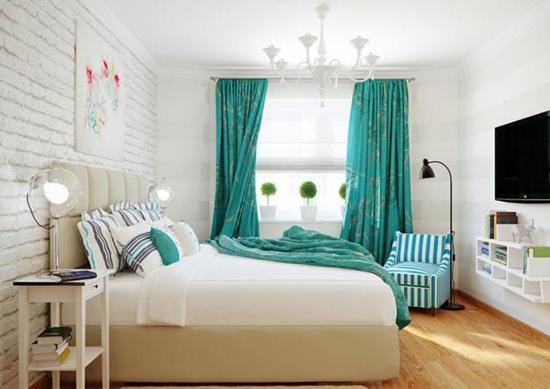 Белые стены в интерьере спальни