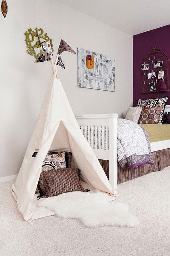 Палатка для игр в детской комнате