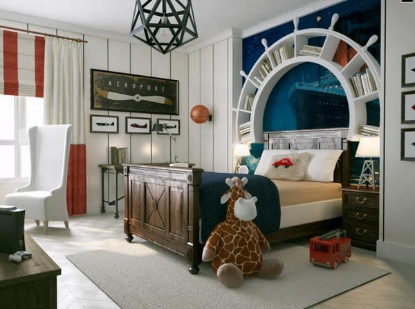 Маленькая детская комната в морском стиле
