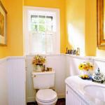Фото 9: Желтый яркий цвет в ванной комнате