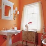 Фото 10: Ванная в оранжевом цвете