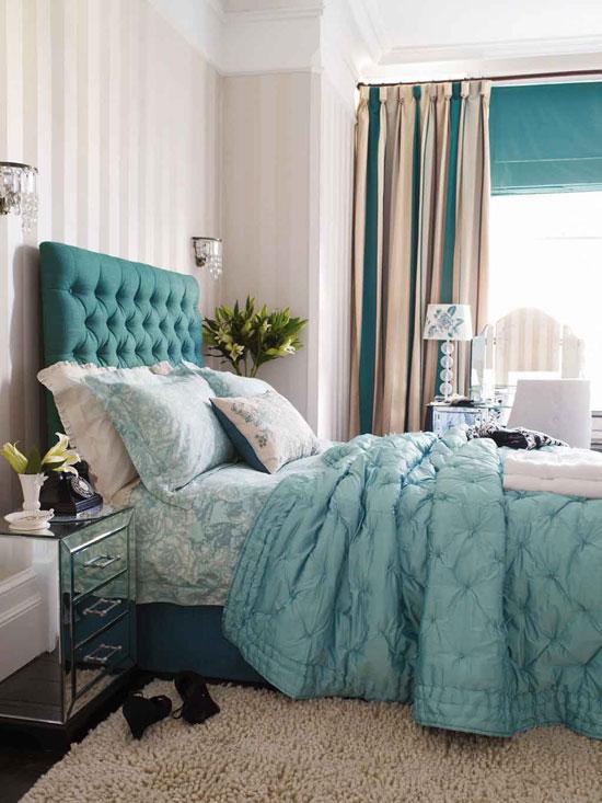 Портьеры для спальни в полоску