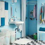 Фото 34: Ванная в голубом цвете