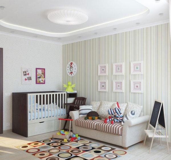 Оформление детского уголка в супружеской спальне