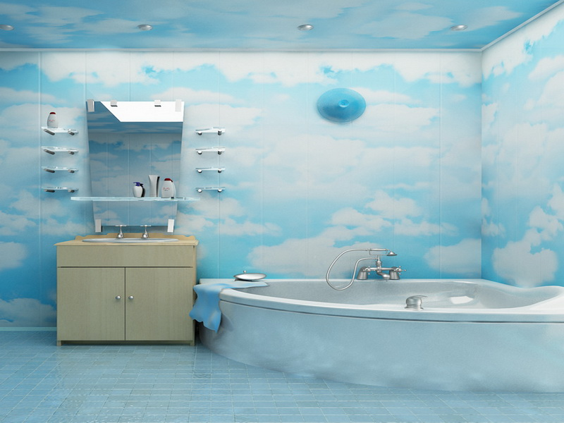 Имитация неба в ванной комнате