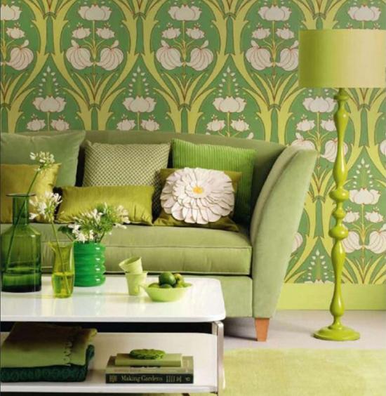 Фисташковый цвет в интерьере гостиной фото