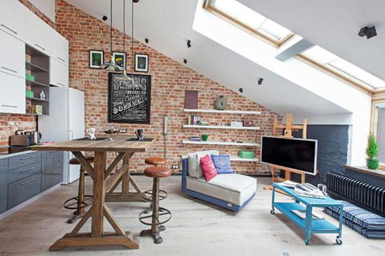 Маленькая квартира в стиле лофт фото