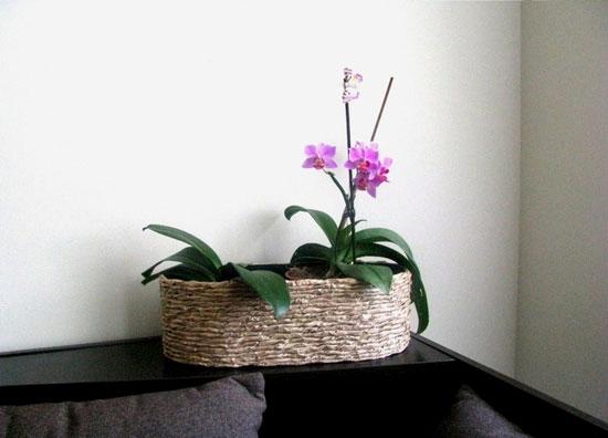 Как украсить цветочный горшок с помощью веревки