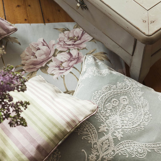Текстиль в интерьере кантри