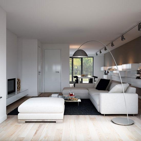 Межкомнатные белые двери в современном стиле