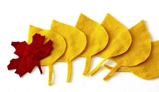 Декоративные листья из фетра