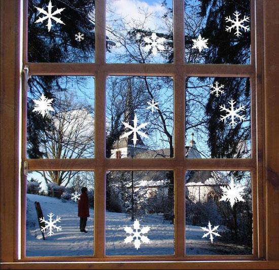 Новогодний декор окна фото